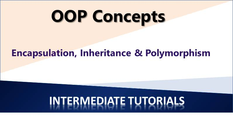 Encapsulation, Inheritance and Polymorphism in Object Oriented Programming