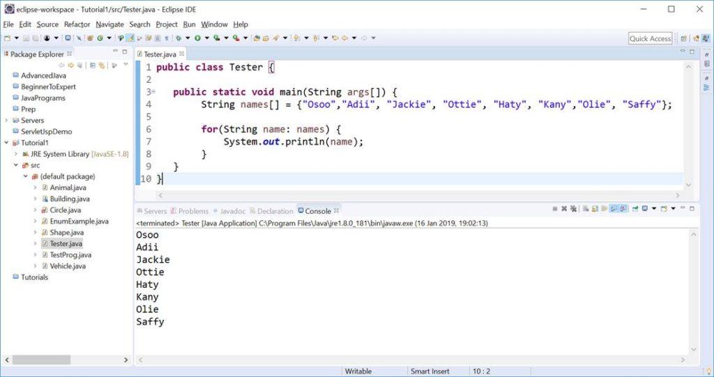 Enhanced For Loop in Java