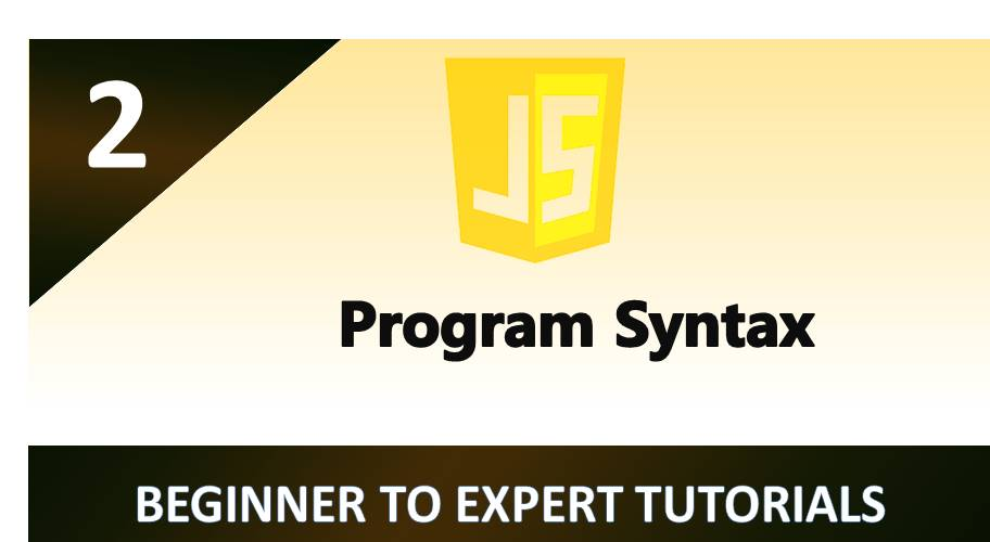 JavaScript – Program Syntax