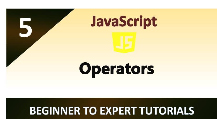 JavaScript – Operators