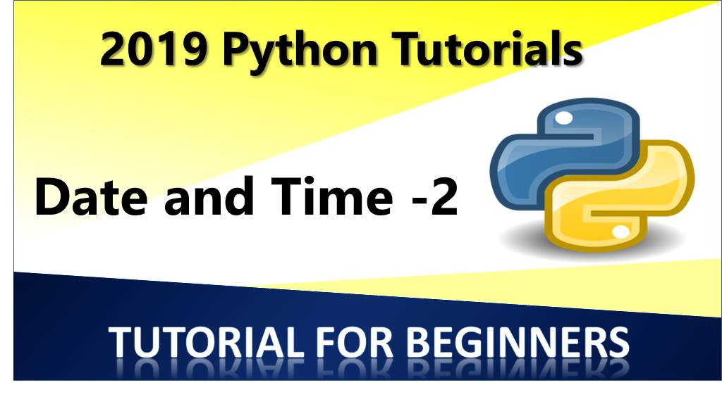 Python – Date and Time 2